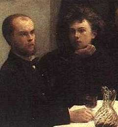 Verlaine and Rimbaud, writers of worlds 1st asshole worship poetry. Beautifully depicteed by Leonardo diCaprio in Total Eclipse